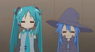 Hatsune Kagami and Witch Konata