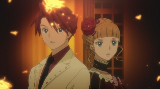 Battler and Beatrice arrive in golden land